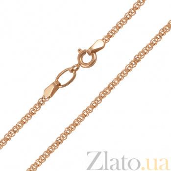 Золотая цепочка Моник в красном цвете c алмазной гранью, 2,5мм 66968-3-2/01