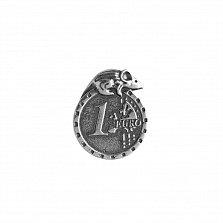 Серебряная сувенирная монета Кошельковая мышка с евро и гривной