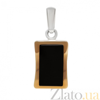 Серебряный кулон с золотыми вставками и оником Астра BGS--254/1п он
