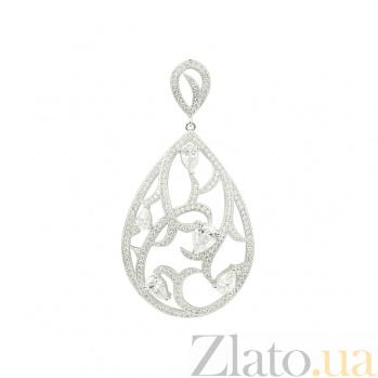 Серебряный подвес с цирконием Флора 3П543-0088