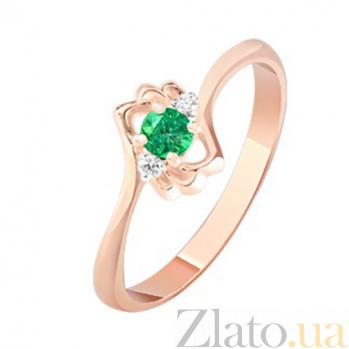 Золотое кольцо с изумрудом и бриллиантами Аманда KBL--К1070/крас/изум