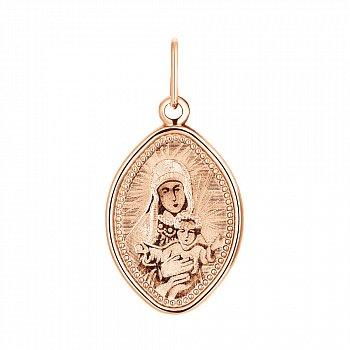 Ладанка из красного золота Божия Матерь 000134057