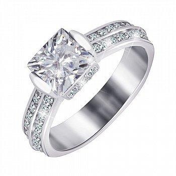 Серебряное кольцо с фианитами 000025522