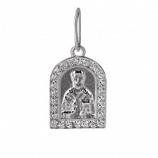 Ладанка из серебра чернёная Николай Чудотворец