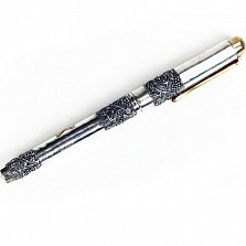 Серебряная ручка с позолотой Виноградная лоза