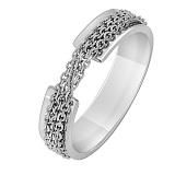 Золотое кольцо Механизм в белом цвете