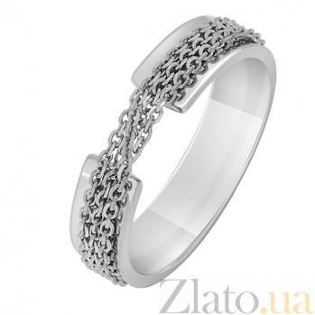 Кольцо Скованные одной цепью в белом золоте 000032637