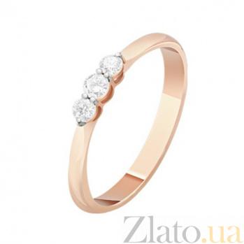 Золотое кольцо с бриллиантами Аделаида KBL--К1058/крас/брил