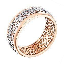 Золотое кольцо в комбинированном цвете 000138743