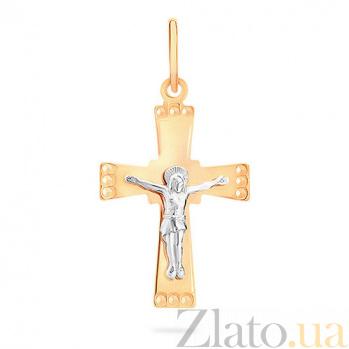 Золотой крестик Вечность SUF--519401рш