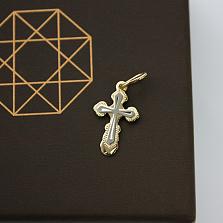 Золотой крестик в евро цвете Свет веры