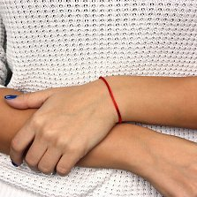 Шелковый браслет Малуа с серебряной застежкой