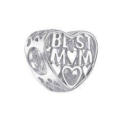 Серебряный шарм-сердце Best Mum 000145993