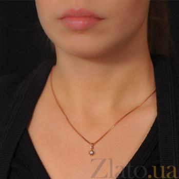 Золотой подвес с бриллиантом Джуна EDM--П7520