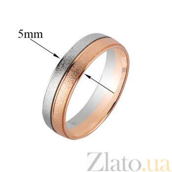 Золотое обручальное кольцо Драгоценная пара 000007106