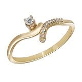 Кольцо из желтого золота Валери с бриллиантами