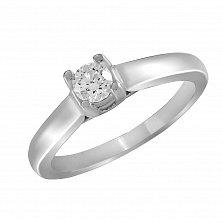 Кольцо из белого золота Лада с бриллиантом