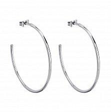 Серебряные серьги-кольца Лилиан