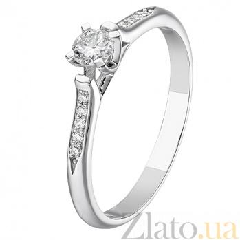 Золотое кольцо с бриллиантами Амелия KBL--К1175/бел/брил
