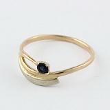 Золотое кольцо с сапфиром Синева небес