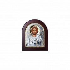 Серебряная икона Иисус Христос с позолотой