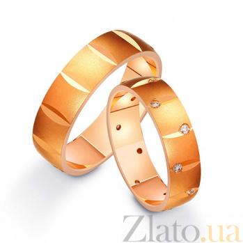 Золотое обручальное кольцо Ночь любви с фианитами TRF--412214