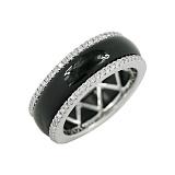 Золотое кольцо с ониксом и бриллиантами Даниэль