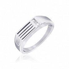 Серебряное кольцо с цирконием Аида
