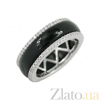 Золотое кольцо с ониксом и бриллиантами Даниэль 1К809-0040