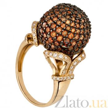 Кольцо из желтого золота с коньячными фианитами Деспина VLT--ТТ133-1