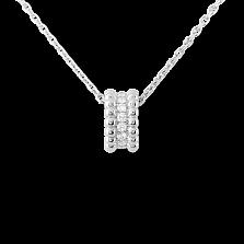 Кулон в белом золоте с бриллиантами Perlée