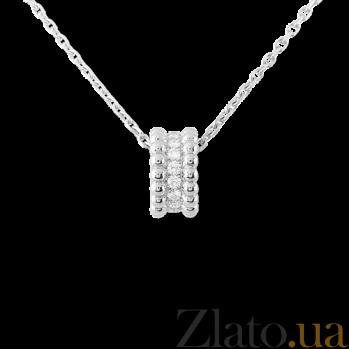Кулон в белом золоте с бриллиантами Perlée P-VCA-Perlée-W-diam