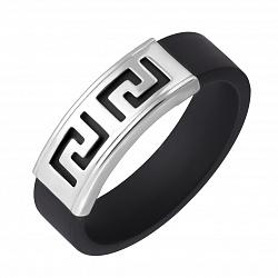 Кольцо из каучука и серебра Калисто 000007980