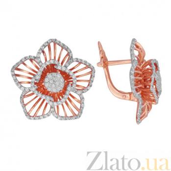 Серьги из красного золота Хризантема VLT--ТТ286-2