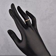 Обручальное кольцо Вечность в красном золоте