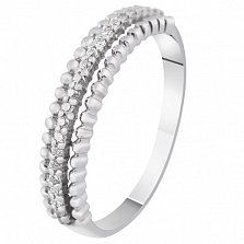 Золотое кольцо с бриллиантами Снежана