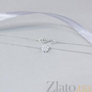 Колье из белого золота Flower с бриллиантами 000096170