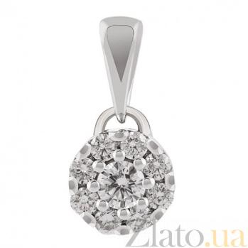 Золотая подвеска с бриллиантами Элизабет KBL--П135/бел/брил