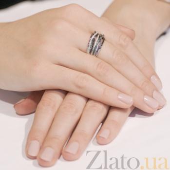 Кольцо из белого золота Наоми с фианитами VLT--ТТТ1240