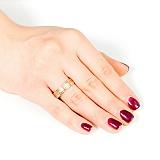 Золотое обручальное кольцо Семейное счастье
