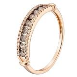 Кольцо в красном золоте Калерия с бриллиантами