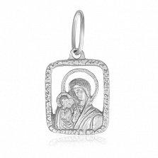 Серебряная ладанка Образ Пресвятой Богородицы