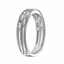 Кольцо Джина из белого золота с бриллиантами