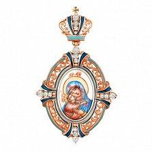Золотая ладанка Божья Матерь с Младенцем Владимирская
