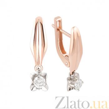 Золотые серьги с бриллиантами Звезда KBL--С2413/крас/брил