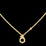 Колье в желтом золоте с бриллиантом Bee