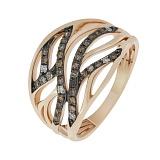 Кольцо в красном золоте Памела с бриллиантами