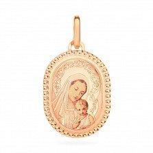 Ладанка из золота с эмалью Богоматерь
