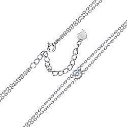 Серебряный браслет с цирконием Swarovski 000145122