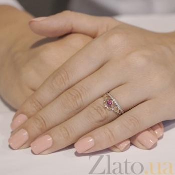 Кольцо из красного золота с бриллиантами Каприз королевы KBL--К1052/крас/руб